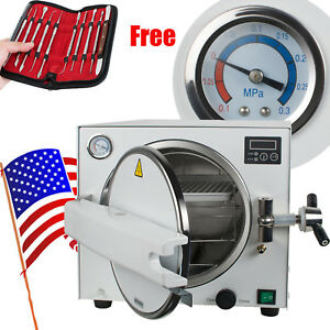 900w Medical Dental Sterilizer Steam Autoclave Lab Equipment Gift Wax Carving