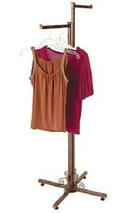 Clothing Rack Two Way 2 Straight Arms Clothes Garment Retail Display Copper 72