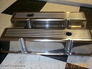 Ball Milled Valve Covers Sb Chevy Sbc Aluminum Alum New Small Block