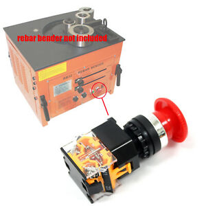 Red Emergency Stop Button Push Switch 1no 1nc 440v 10a For Rebar Bender Rb32