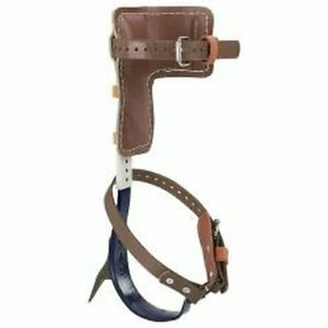 Klein Tools Cn1907ar Leather Tree Climber Set 2 3 4 inch Gaffs 15 To 19 inch