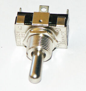 Gaynor Toggle Switch Spdt C off Momentary Solder Tab 15 Amp 125 Vac 7062d