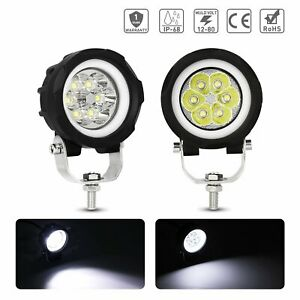 Pair 3 Led Work Spot Light White Drl Fog Driving Lamps Offroad Car Truck Atv