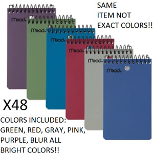 x48 Mead Writing Pad 100 Sheet 3 x5 Small Poly Memo Book Wirebound Notebook
