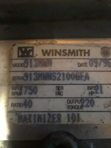 Winsmith 930 40 To 1 Gear Reducer Model 930mwn Used
