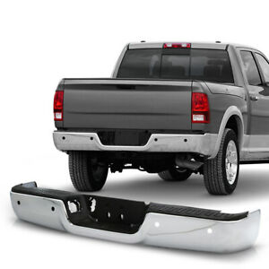 For 09 18 Dodge Ram 1500 Replacement Rear Bumper W sensor Hole Chrome Polished
