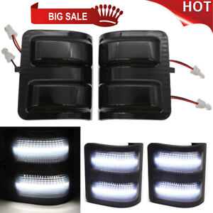 Smoke Lens Side Mirror White Led Turn Signal Lights For Ford F250 F350 F450 F550