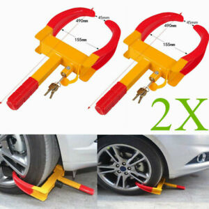 Heavy Wheel Tire Lock Anti Theft Clamp Parking Boot Car Trailer Locker Equipment
