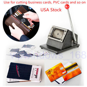 Manual Pvc Card Die Cutter 54 86mm R3 Round Corner Heavy Duty Punch Clothing Tag