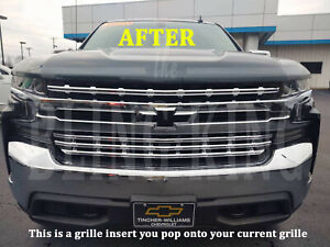 2019 2020 Chevy Silverado 1500 Chrome Grille Insert Grill Overlay Lt Rst