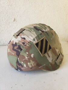 ACH ARMY COMBAT HELMET COVER MULTICAM LG EX LARGE  WO IR TAB 3rd infantry patch