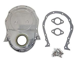 Summit Racing G6301w Timing Cover 1 piece Aluminum Polished Chevy Big Block Kit