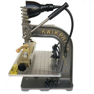 Kwikprint Machine Model 55 Hot Foil Gold Stamping Machine Leather Embossing New