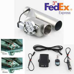 3 76mm Car Y Type Electric Exhaust Downpipe Valve E Cutout With Wireless Remote