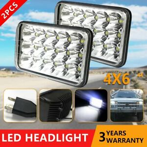 4x6 Square Led Headlights Hi lo Beam For Chevrolet S10 1997 1996 1995 R10 1987
