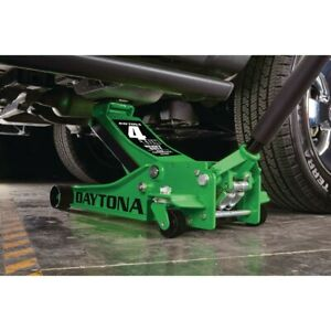 4 Ton Professional Floor Jack With Rapid Pump Lift Truck Service Vehicle Green