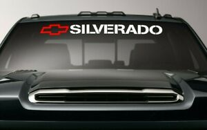 Chevy Sticker Window Decal Silverado Chevrolet Vinyl Banner Letters