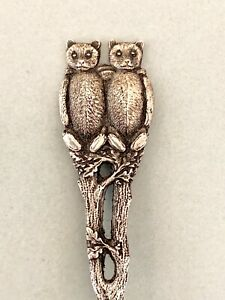 Watson Sterling Silver Vintage Twin Teddy Bears Spoon Antique