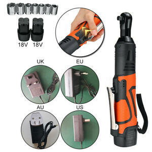 18v 3 8 Electric Rechargeable Cordless Ratchet Wrench Right Angle Wrench Tools