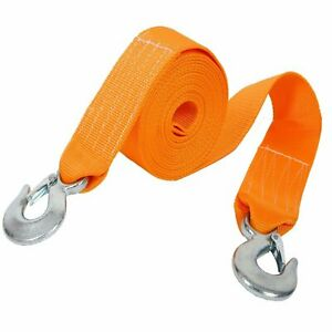 Heavy Duty Tow Strap With Hooks 18 000 Lb Capacity Recovery Rescue 3 X 20 Us