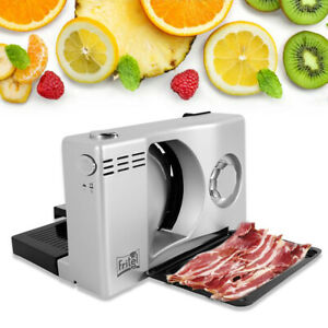 Electric Meat Slicer Bread Fruit Food Cheese Cutter Machine Cut 1 15mm 100w Usa