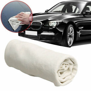 1x Natural Chamois Leather Car Cleaning Cloth Washing Suede Absorbent Towel