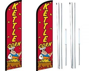 Kettle Corn Windless Flag With Hybrid Pole Set Pack Of 2