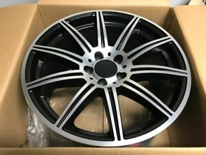 18 Mercedes Benz E63 Satin Black Amg Staggered Rims Fits S Class S450 S550