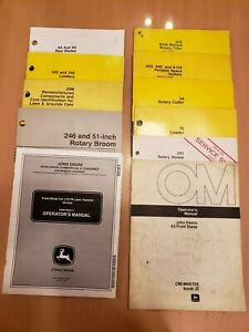 John Deere Lot Of 11 Assorted Operator s Parts Manuals Lawn Grounds