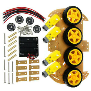 20x 4wd Robot Smart Car Chassis Kit With Tachometer Speed Encoder For Arduino Ca