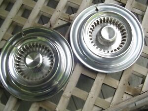 Two Vintage 1959 59 Chrysler Imperial Hubcaps Wheel Covers Antique Classic Mopar