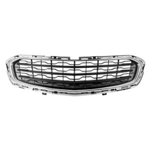 New Front Fits Chevrolet Cruze 2015 2016 Chrome Black Grille Assembly Gm1200728