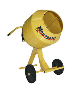 Concrete And Mortar Mixer Electric Motor Heavy Duty 4 5 Cubic Feet