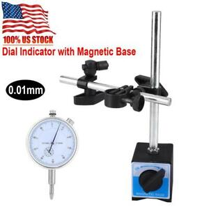 Magnetic Base Holder Stand Dial Test Indicator Gauge Scale Precision 0 01mm Us