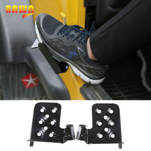 Front Foot Pegs Rest Pedal For Jeep Wrangler Tj 1997 2006 Solid Steel Black