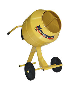 Concrete Mixer Electric Heavy Duty 5 Cubic Feet All Metal