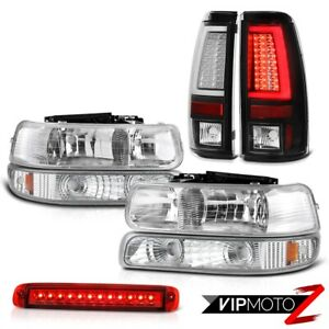 99 02 Silverado 4wd Taillamps High Stop Light Headlamps Signal Lamp Crystal Lens