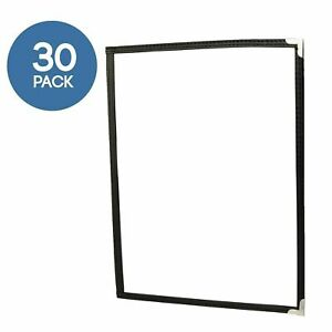 30 Pack Of Menu Covers Single Page 2 Views Fits 8 5 X 11 Inch Restaurant