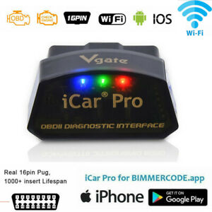 Vgate Icar Pro Wifi Bimmercode Compatible Bmw Coding Iphone Ios Android Obd2 Ii