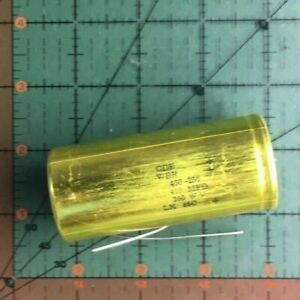 Cornell Dubilier Axial Electrolytic Capacitor 450uf 250v Wbr450 250 Tested