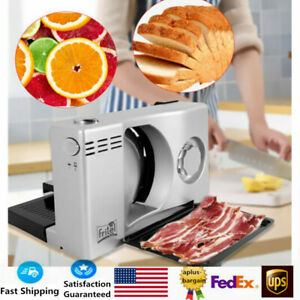 Electric Meat Slicer Bread Fruit Food Cheese Cutter Machine 1 15mm Usa Stock