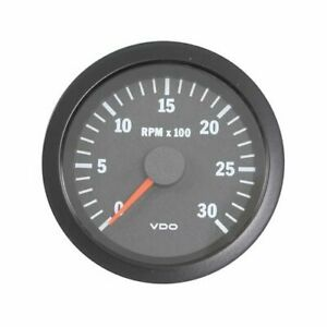 Vdo Vision Series Tachometer 0 3 000 3 3 8 Dia In Dash Black Face 333152