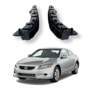 For 2008 2012 Honda Accord Sedan Front Bumper Retainer Bracket Support 2pcs