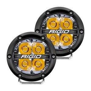 Rigid 36114 In Stock 360 Series 4 Led Off Road Lights Amber Backlight
