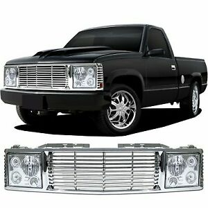 Chevrolet Silverado 1988 1998 Range Rover Style Grille Headlight Conversion Kit