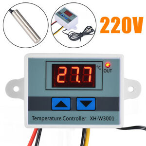 220v 1500w Digital Led Temperature Controller Thermostat Control Switch Probe