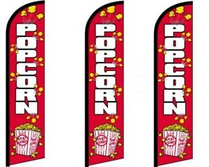 Popcorn Windless King Size Flag Pack Of 3 hardware Not Included