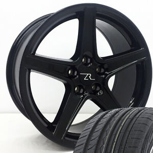18 Black Mustang Saleen Style Wheels Tires Free Shipping 18 Inch Rims Tires