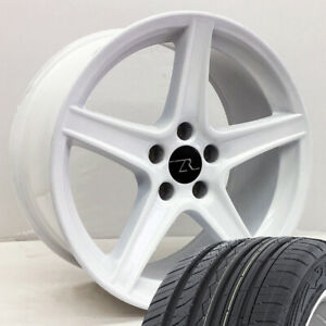 18 White Mustang Saleen Style Wheels Tires Free Shipping 18 Inch Rims Tires