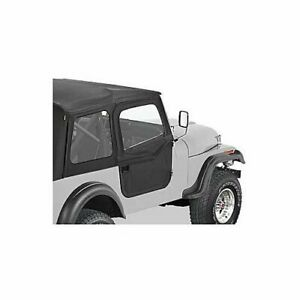 Bestop Doors 2 Piece Full Fabric Black Driver And Passenger Fits Jeep Cj 7 Pair